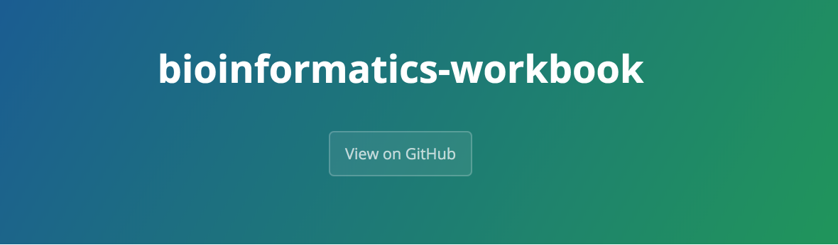Bioinformatics Workbook